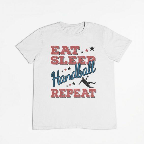 Eat sleep handball repeat férfi póló