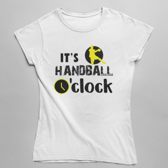 It's handball o'clock női póló