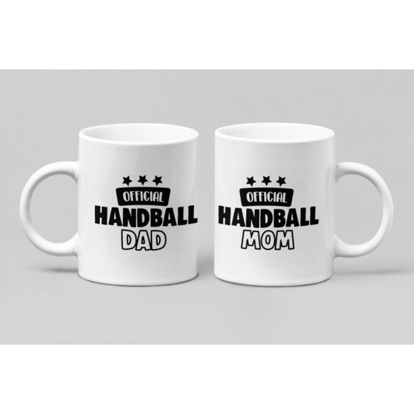 Official handball mom & dad páros bögre