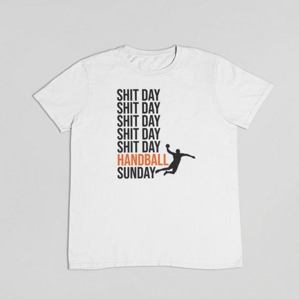 Shit day Handball sunday férfi póló