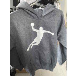 Handball siluhette gyerek pulóver M-es sötétszükre